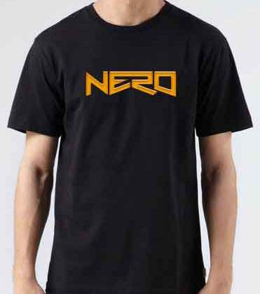 Nero Logo T-Shirt Crew Neck Short Sleeve Men Women Tee DJ Merchandise Ardamus.com