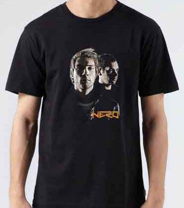 Nero T-Shirt Crew Neck Short Sleeve Men Women Tee DJ Merchandise Ardamus.com