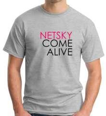 Netsky Come Alive T-Shirt Crew Neck Short Sleeve Men Women Tee DJ Merchandise Ardamus.com