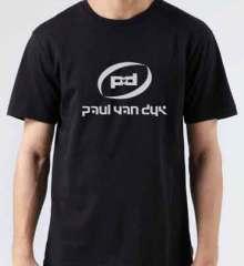 Paul Van Dyk Logo T-Shirt Crew Neck Short Sleeve Men Women Tee DJ Merchandise Ardamus.com