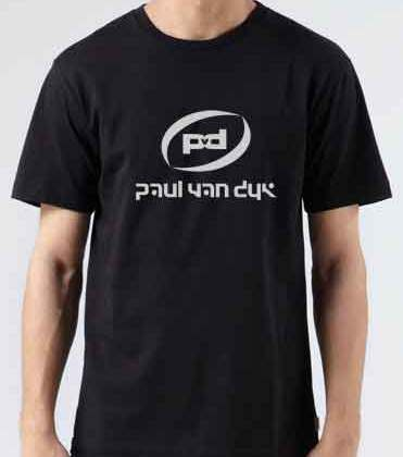 Paul Van Dyk Logo T-Shirt Crew Neck Short Sleeve Men Women Tee DJ Merchandise Ardamus.com