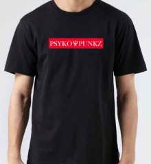 Psyko Punkz Logo T-Shirt Crew Neck Short Sleeve Men Women Tee DJ Merchandise Ardamus.com