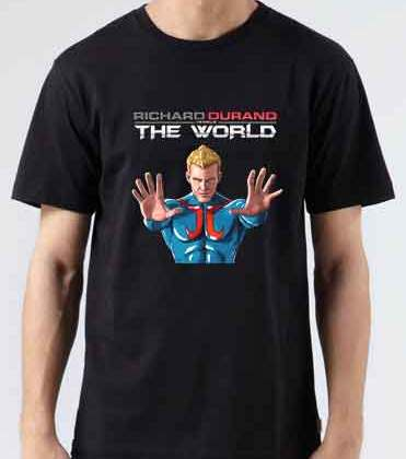 Richard Durand Vs The World North America T-Shirt Crew Neck Short Sleeve Men Women Tee DJ Merchandise Ardamus.com