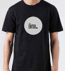 Richie Hawtin Enter T-Shirt Crew Neck Short Sleeve Men Women Tee DJ Merchandise Ardamus.com