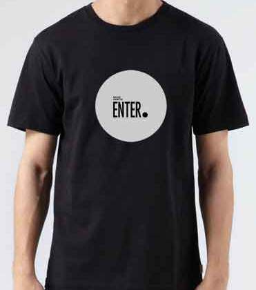 Richie Hawtin Enter T-Shirt Crew Neck Short Sleeve Men Women Tee DJ Merchandise Ardamus.com