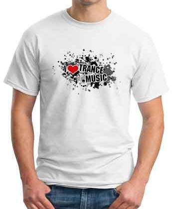 Roger Shah I Love Trance Music T-Shirt Crew Neck Short Sleeve Men Women Tee DJ Merchandise Ardamus.com