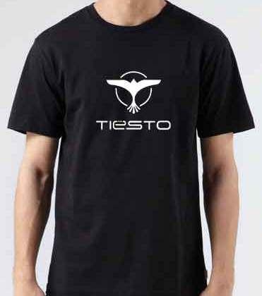 Tiesto Logo T-Shirt Crew Neck Short Sleeve Men Women Tee DJ Merchandise Ardamus.com