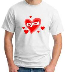 Tydi Heart T-Shirt Crew Neck Short Sleeve Men Women Tee DJ Merchandise Ardamus.com