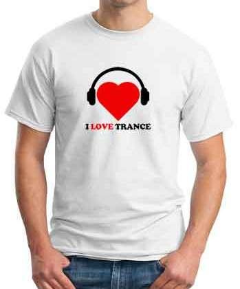 Tydi I Love Trance T-Shirt Crew Neck Short Sleeve Men Women Tee DJ Merchandise Ardamus.com