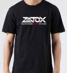 Zatox Logo T-Shirt Crew Neck Short Sleeve Men Women Tee DJ Merchandise Ardamus.com