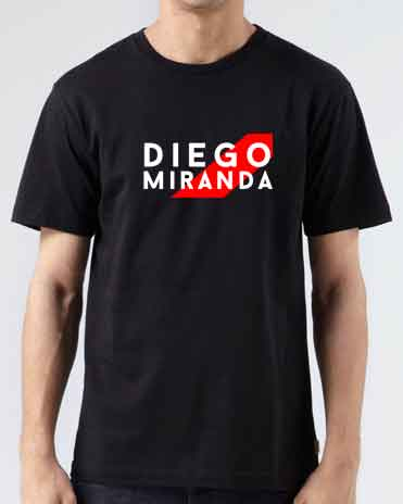 Diego Miranda T-Shirt Crew Neck Short Sleeve Men Women Tee DJ Merchandise Ardamus.com