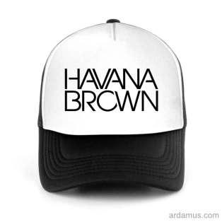 Havana Brown Trucker Hat Baseball Cap DJ by Ardamus.com Merchandise