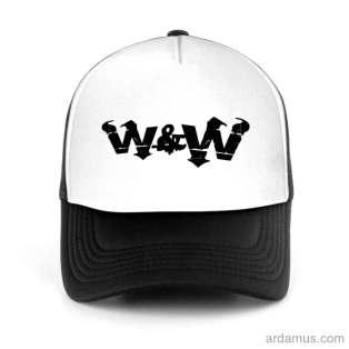 W&W Trucker Hat Baseball Cap DJ by Ardamus.com Merchandise