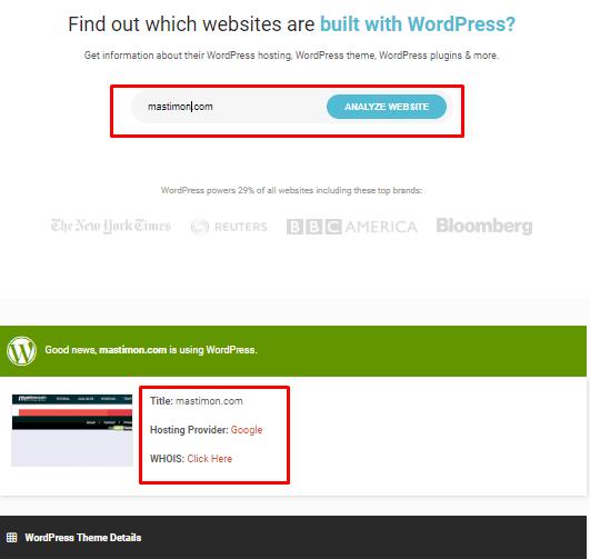 cara mengetahui blog menggunakan tools isitwp