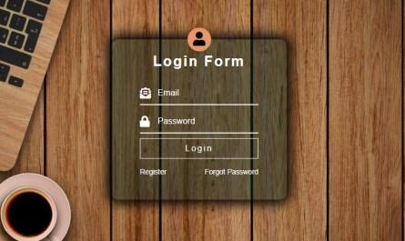 membuat desain form login transparan