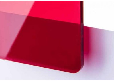 Plexi Rouge Transparent