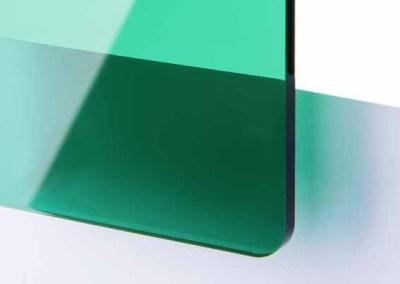 Plexi Vert foncé Transparent