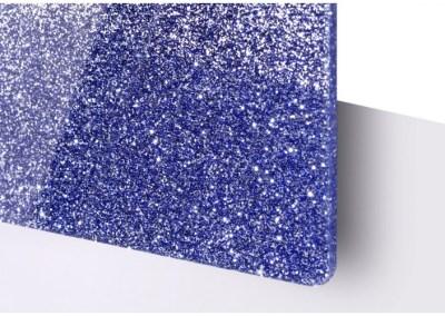 Plexi Paillettes Bleu