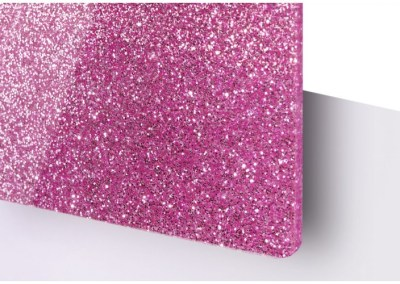 Plexi Paillettes Rose