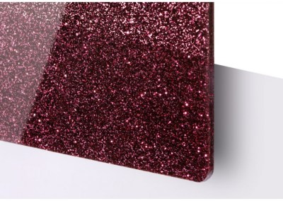 Plexi Paillettes Rouge