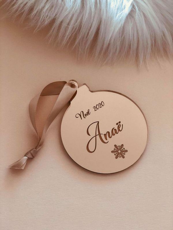 Boule de Noël personnalisée en plexi