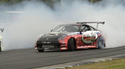Drifting at Sydney Motorsport Park in 2014