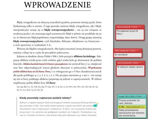 Korekta tekstu w PDF przykład