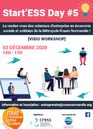 [Visio workshop] Start'ESS Day par la CRESS – 3 décembre 2020