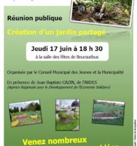 Création de 2 jardins partagés à St-Germain-la-Blanche-Herbe et à Bourguébus