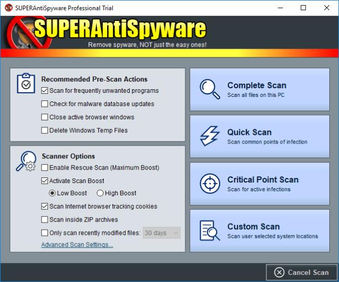 SUPERAntiSpyware 6 antispyware