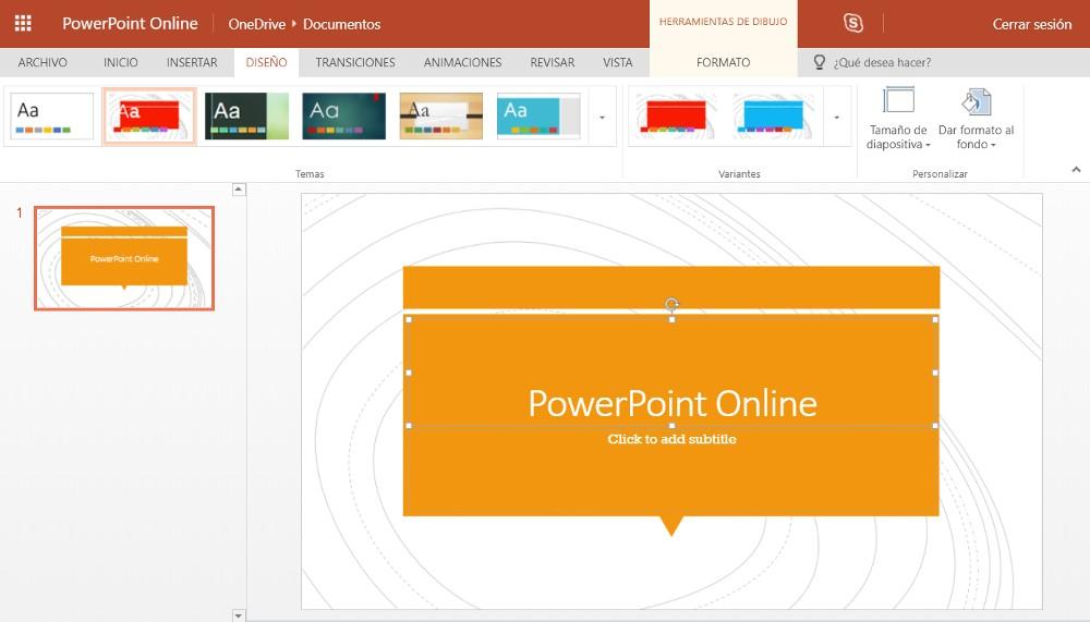 PowerPoint online 2016