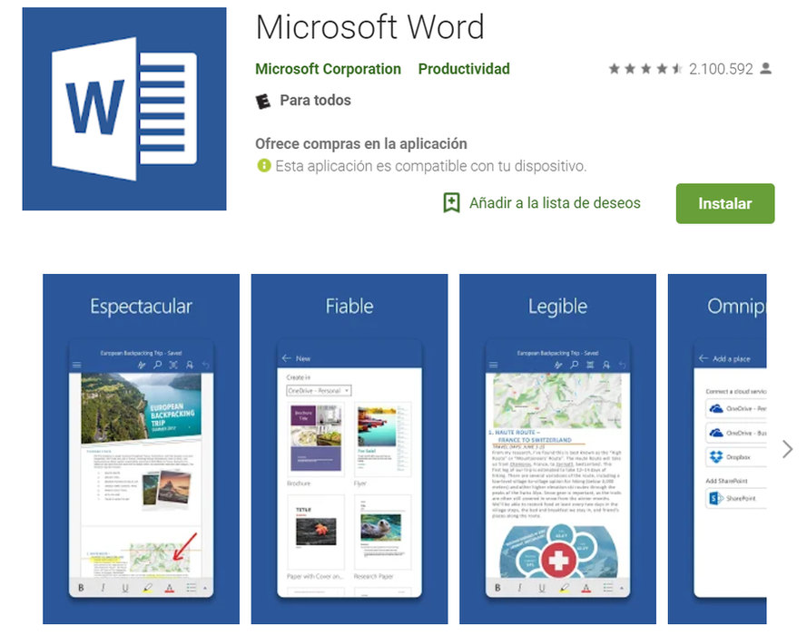 Word para Android
