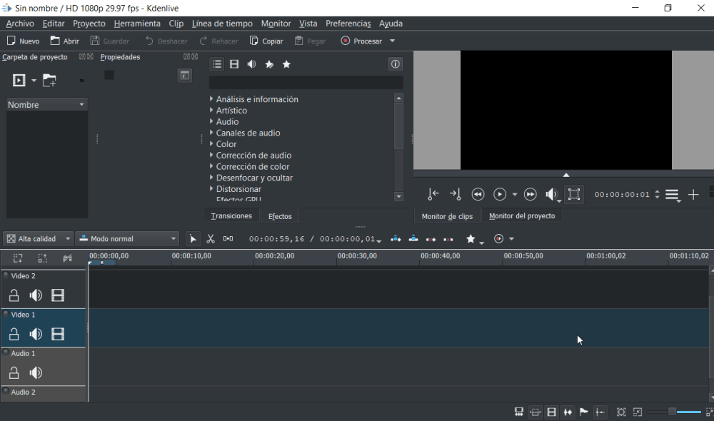 Kdenlive editor de video portable