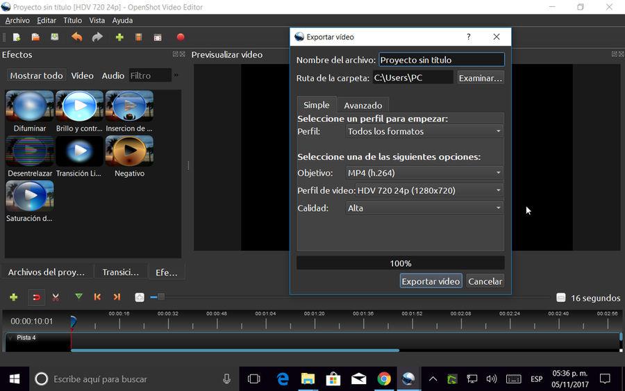 Openshot editor de video