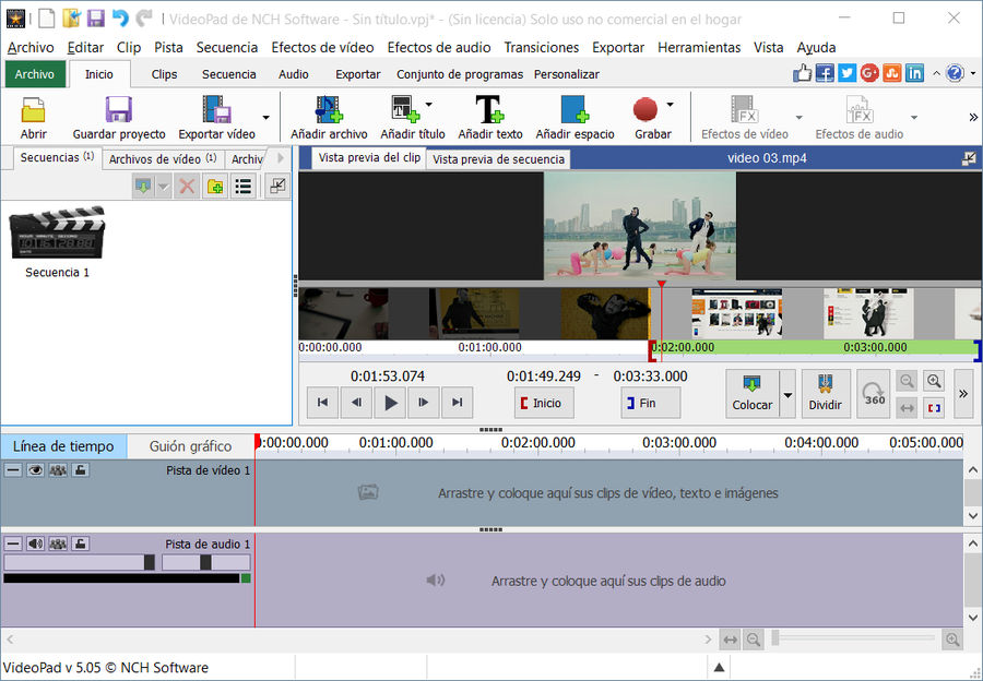 VideoPad programa de edición