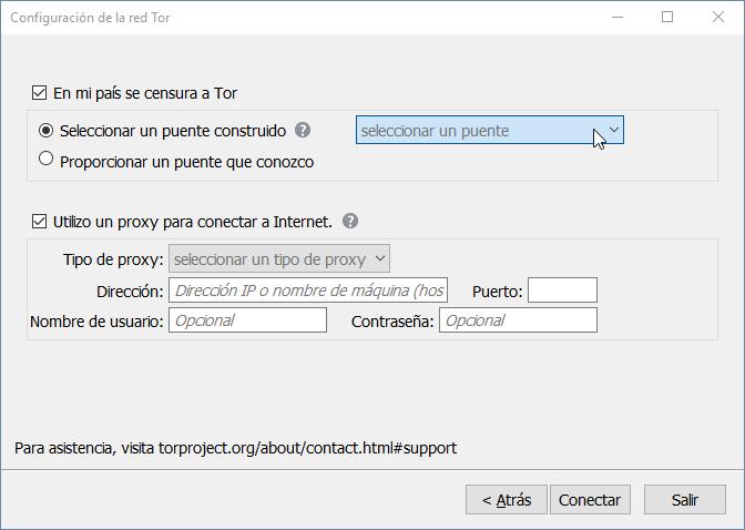 Navegador Tor anonimato