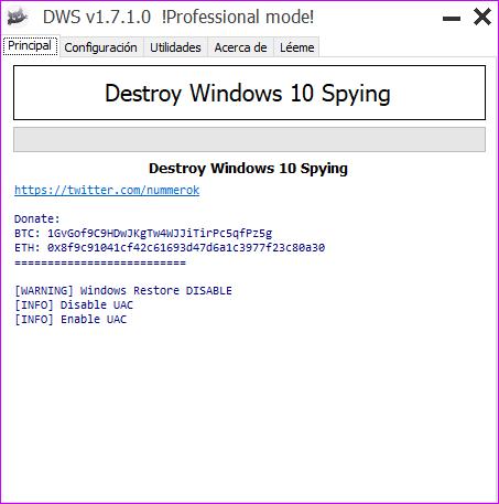 Destroy Windows 10 Spying 1.7