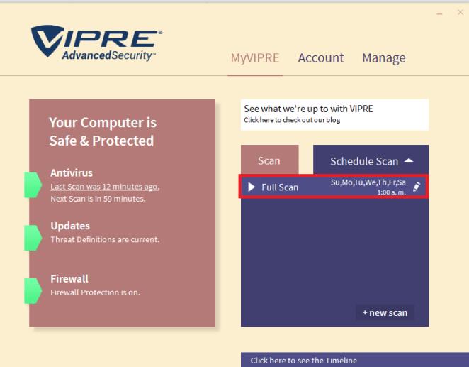 Escáner VIPRE Antivirus
