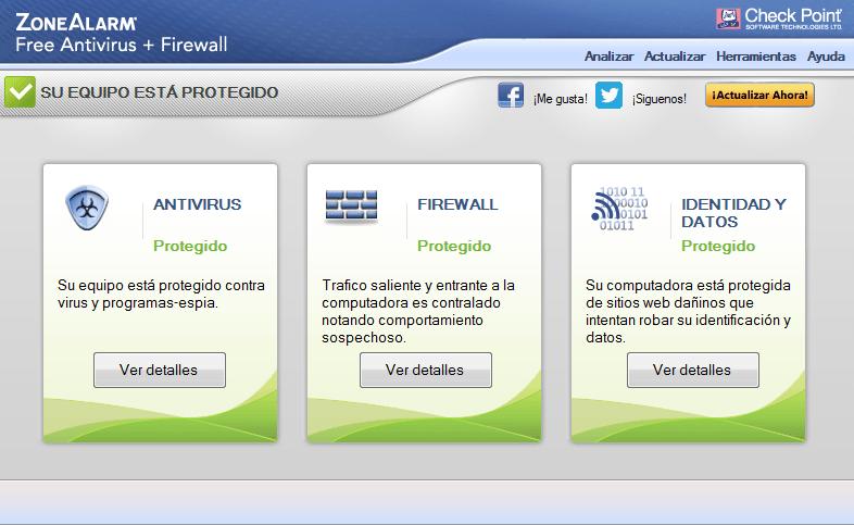 ZoneAlarm Free Antivirus 2018 firewall
