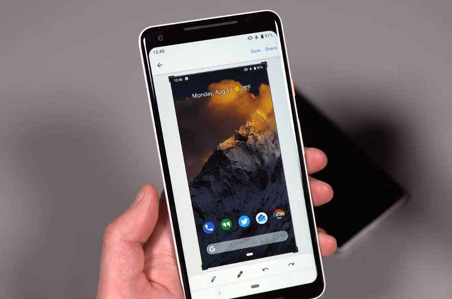 Capturas de pantalla en Android 9 Pie