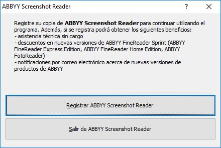 ABBYY Screenshot Reader gratis