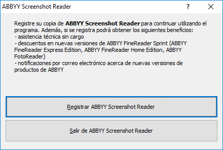 ABBYY Screenshot Reader gratis