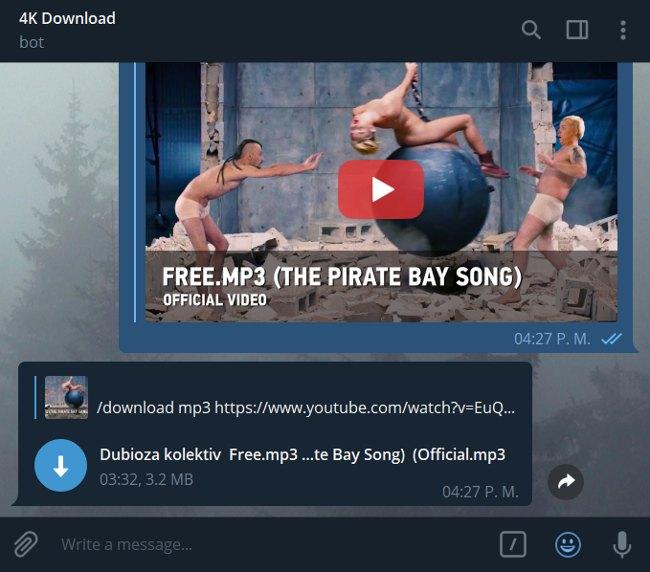 Bot de Telegram 4K Download