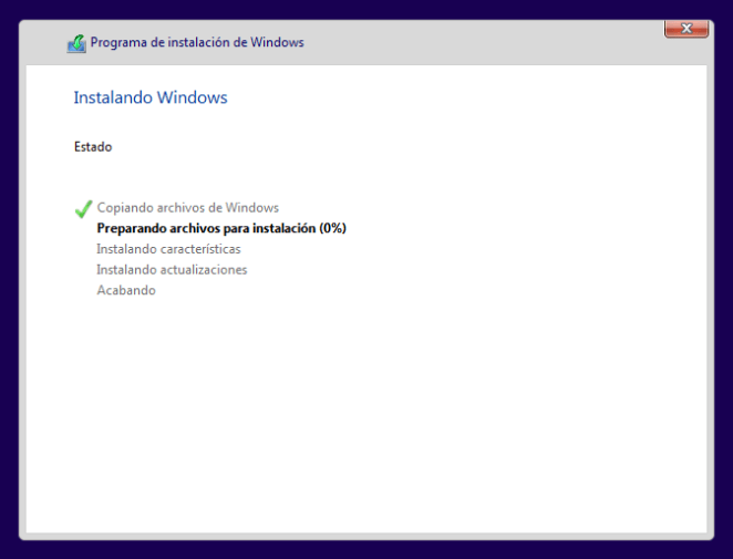 instalando sistema operativo windows 10