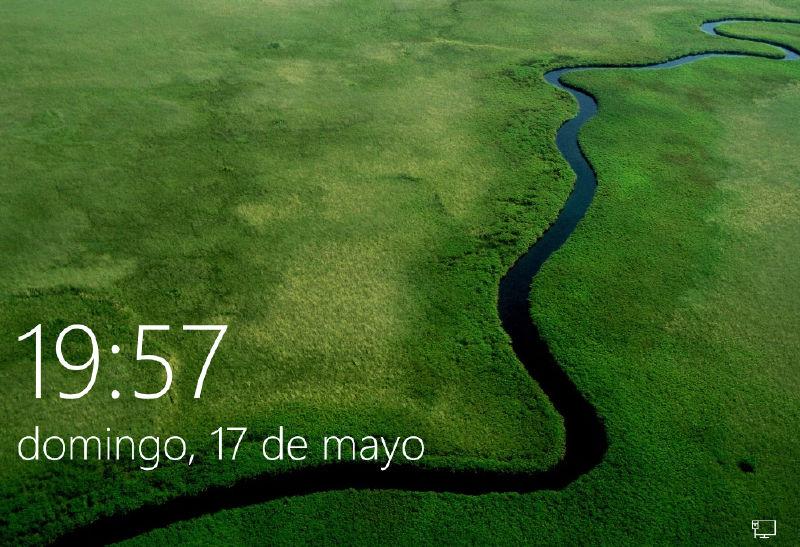 Pantalla de inicio Windows 10