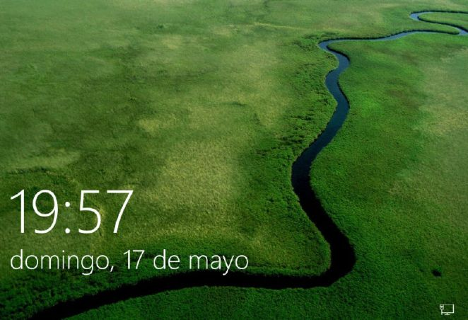 Pantalla de inicio Windows 10