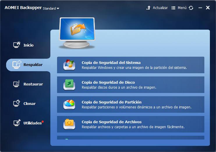 AOMEI Backupper copia de seguridad