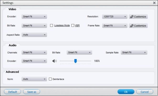 Ajustes WonderFox HD Video Converter