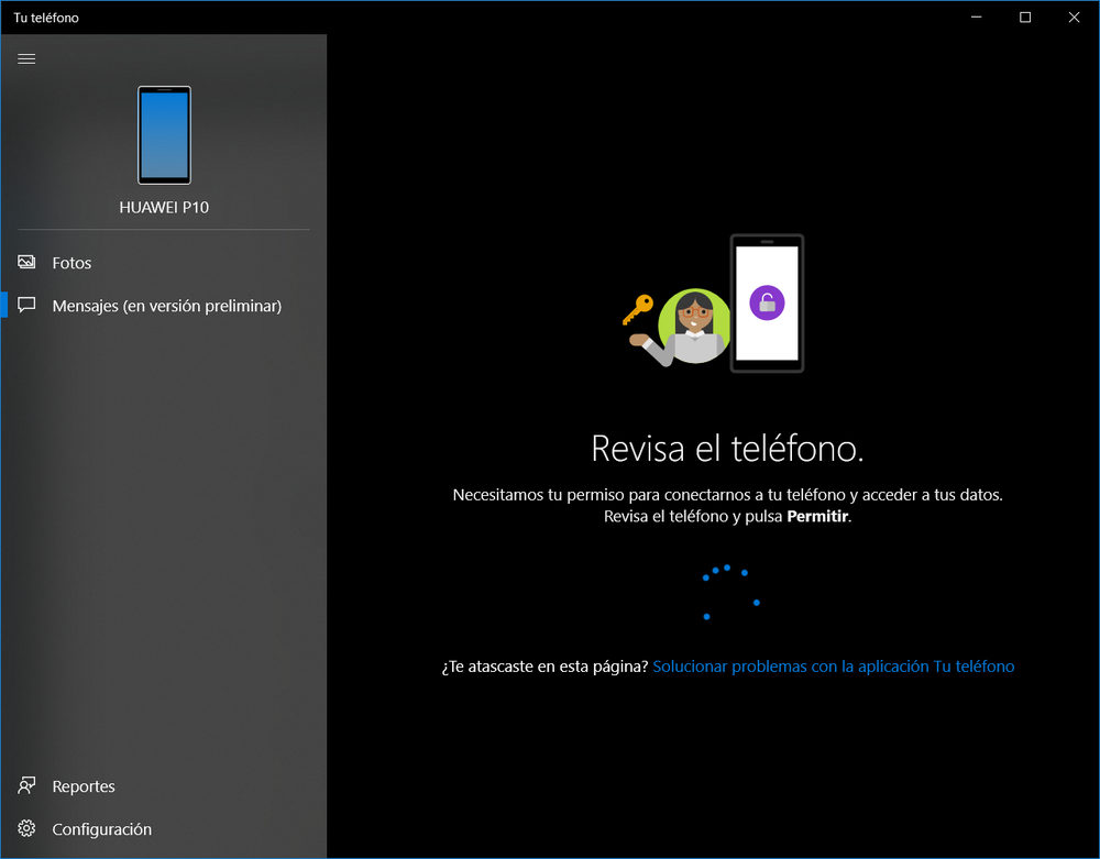 Aplicación Tu teléfono Windows 10