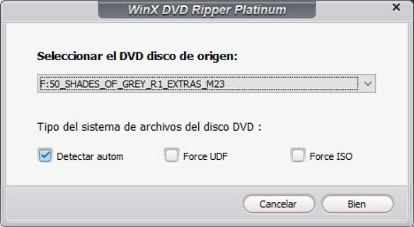 DVD de origen